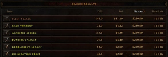 Diablo 3: Auction House using real money up and running
