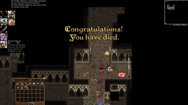 Dungeons of Dredmor Congratulations