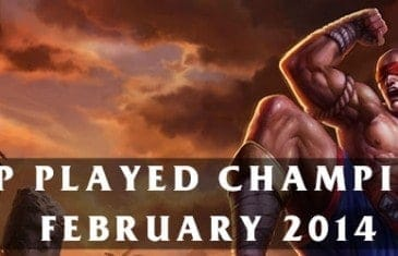 League of Legends: Top Played Champions February 2014