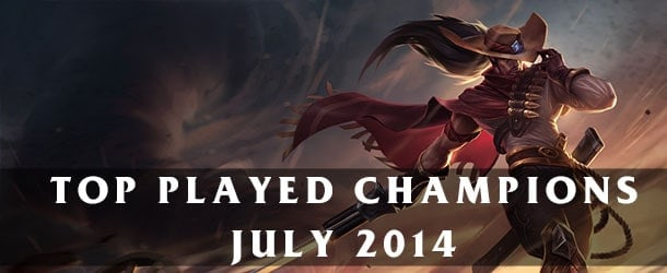 League of Legends: Top Played Champions July 2014
