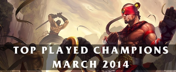 League of Legends: Top Played Champions March 2014