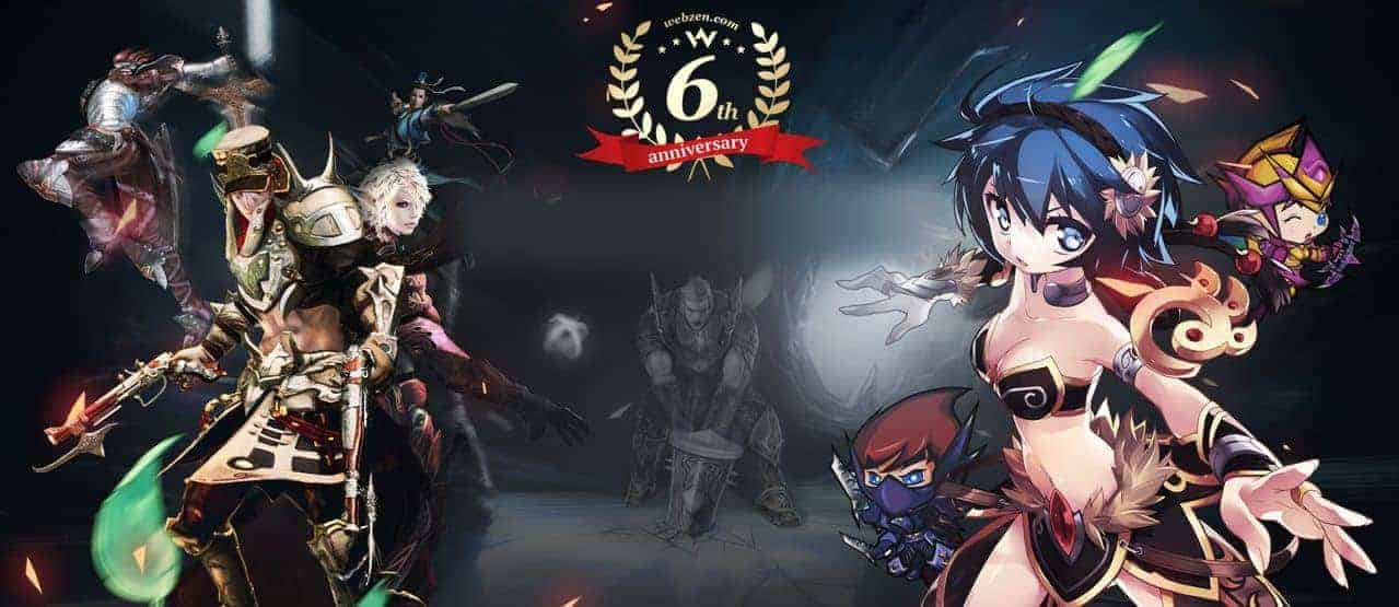 WEBZEN Celebrate 6 Year Anniversary With Events In Top Free-To-Play Titles