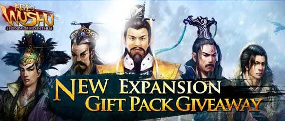 Age of Wushu Mount Hua Expansion Giveaway Pack