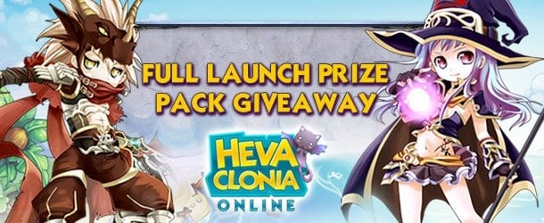 Heva Clonia Online Launch Item Pack Giveaway