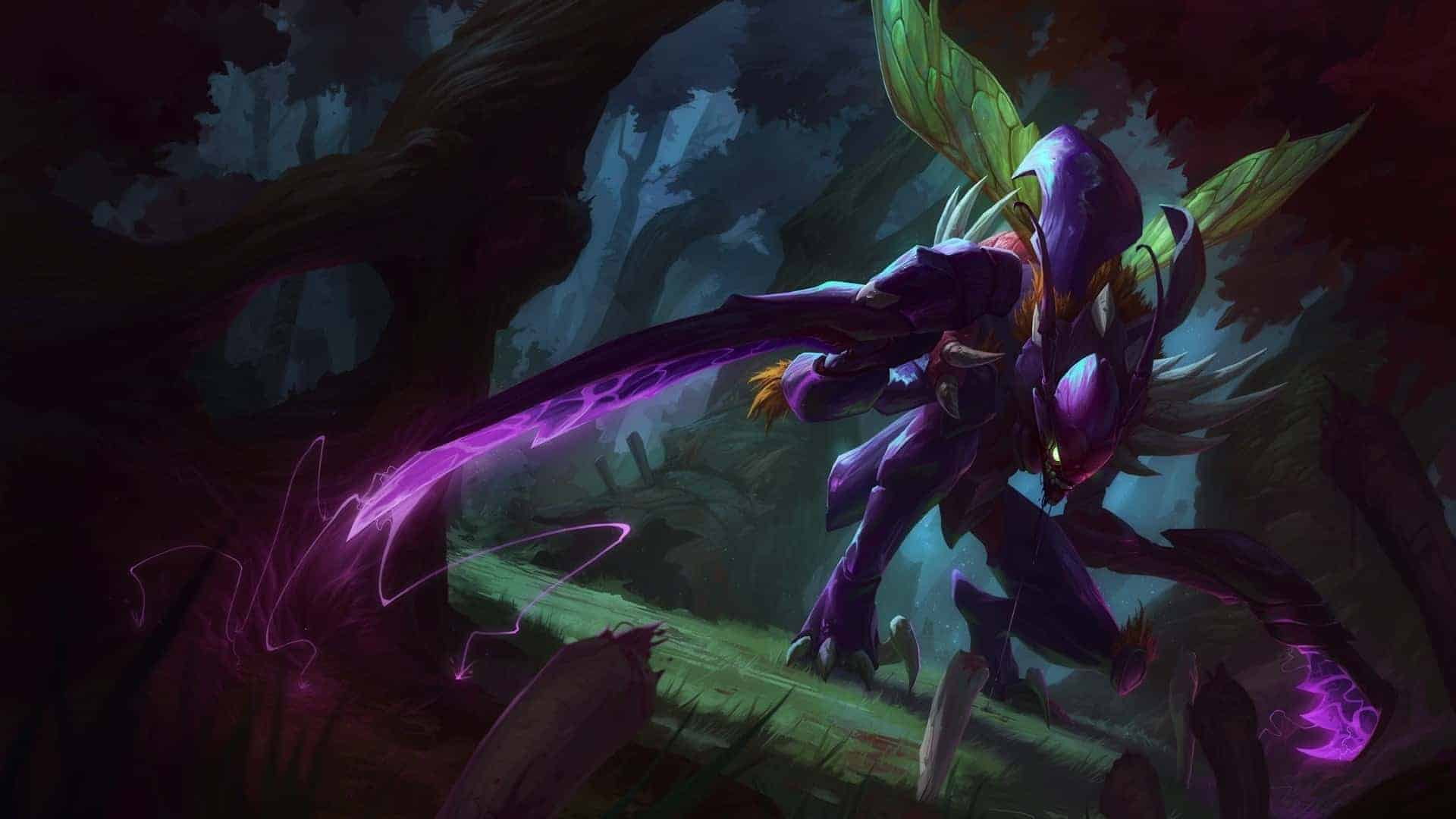 League of Legends – Kha'Zix Highlighted In Art Video