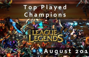 League of Legends: Top Played Champions August 2013