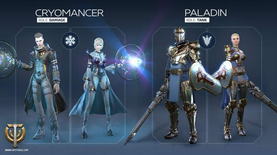 skyforge-cryo-pally-classes