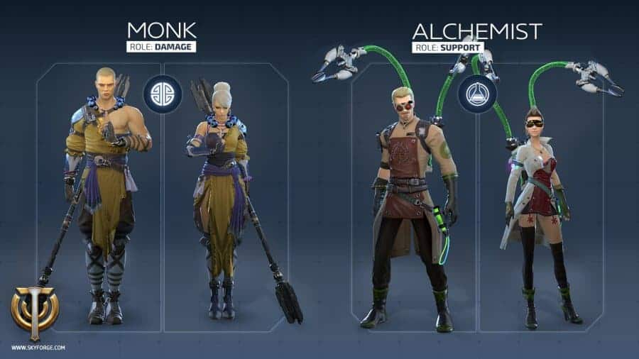 skyforge-monk-alchemist-classes
