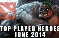 Top Played Dota 2 Heroes (June 2014) | Dota 2